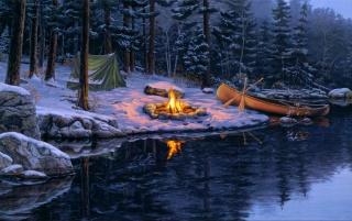 Previous: Campfire Winter Forest Lake