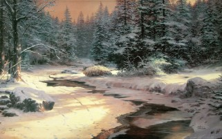 Snow Creek Forest Stones wallpapers and stock photos