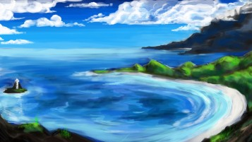 Ocean & Scenery Painting wallpapers and stock photos