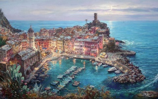 Pretty Pintura Vernazza wallpapers and stock photos