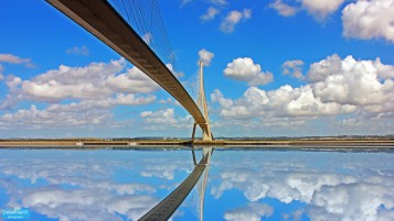 Bridge of Normandie. wallpapers and stock photos