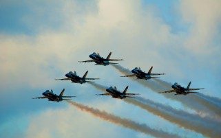 Blue Angels Delta Formation wallpapers and stock photos