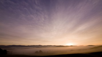 Bavarian Forest Sunrise wallpapers and stock photos