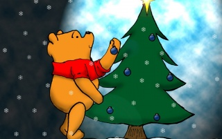 Pooh Christmas wallpapers and stock photos