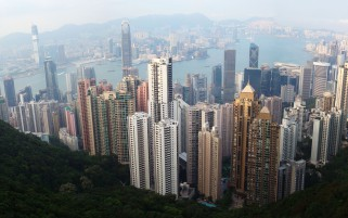 Hong Kong Top View wallpapers and stock photos