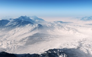 Mountains Aerial View wallpapers and stock photos