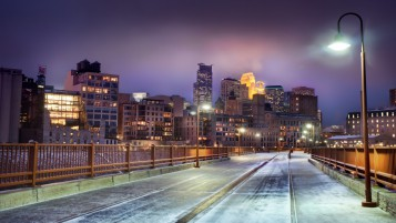 Winter in Minnesota City wallpapers and stock photos