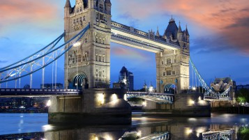Night over Tower Bridge wallpapers and stock photos