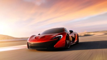 Red McLaren P1 wallpapers and stock photos