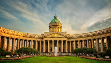 Kazan Cathedral in St. Petersburg wallpapers and stock photos