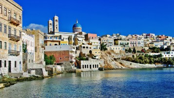 Syros Island Greece wallpapers and stock photos