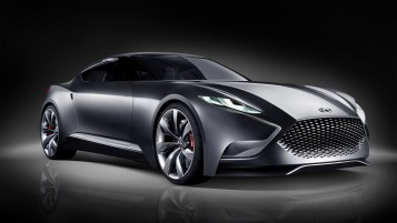 Hyundai Luxury Sports Coupe HND wallpapers and stock photos