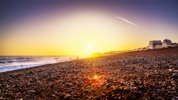 Brighton Beach Sunset wallpapers and stock photos
