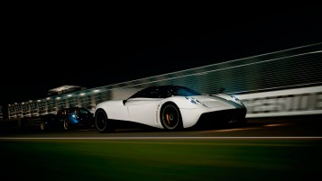 White Pagani Huayra wallpapers and stock photos