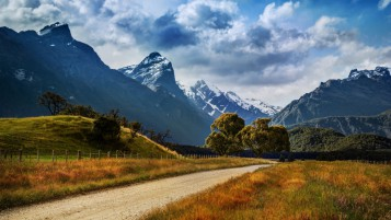 New Zealand Summer Landscape wallpapers and stock photos