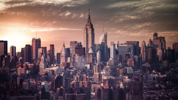 New York Vintage-Effekt wallpapers and stock photos
