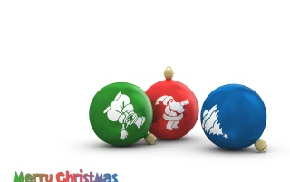 3 Christmas Globes wallpapers and stock photos