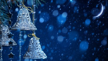 Silver Christmas Bells wallpapers and stock photos