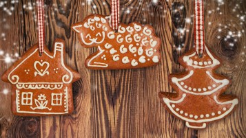 Christmas Gingerbread Ornaments wallpapers and stock photos