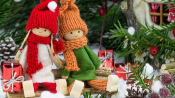 Handmade Christmas Dolls wallpapers and stock photos