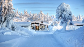 Snow House wallpapers and stock photos
