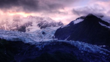 Glacier Sunrise wallpapers and stock photos