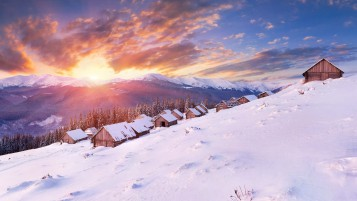 Amazing Winter Sunset wallpapers and stock photos