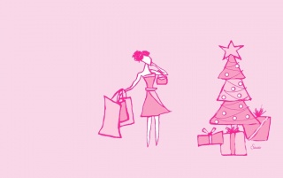 Pink Christmas wallpapers and stock photos