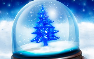 Christmas tree in globe wallpapers and stock photos