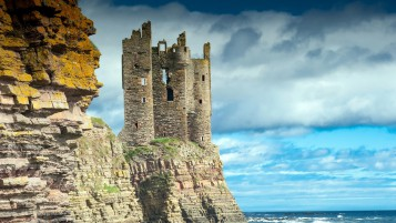 Keiss Castle Scotland wallpapers and stock photos