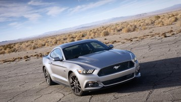 Grey Ford Mustang 2014 wallpapers and stock photos