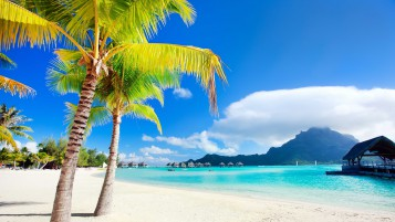 Bora Bora Beach wallpapers and stock photos