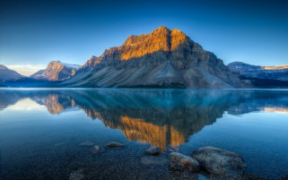 Bow Lake In Summer wallpapers and stock photos