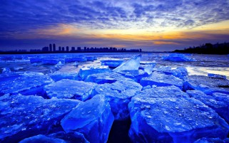 Blue Ice Amanecer wallpapers and stock photos