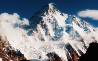 Mount Chogori Snow Cold wallpapers and stock photos