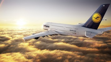 Airbus A380 Lufthansa wallpapers and stock photos