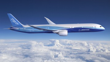 Blue Boeing-787 wallpapers and stock photos