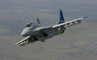MiG -35 Blau Schwanz wallpapers and stock photos