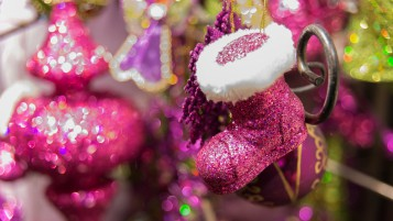 Pink Christmas Decorations wallpapers and stock photos