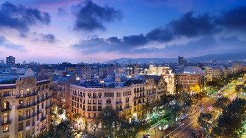 Night in Barcelona wallpapers and stock photos