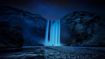 Schöne Skogafoss-Wasserfall wallpapers and stock photos