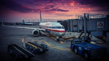 American Airlines Passagierflugzeug- wallpapers and stock photos