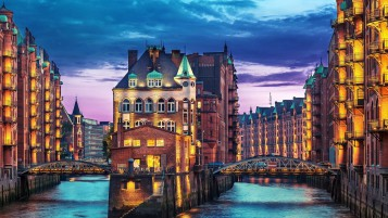 Hamburg City Corner wallpapers and stock photos