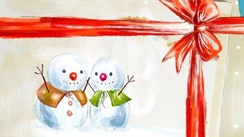 Happy Snowmen Illustration wallpapers and stock photos