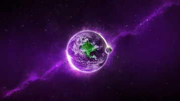 Purple Space Planet wallpapers and stock photos