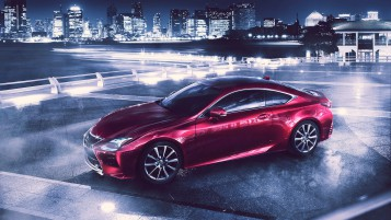 Lexus RC Coupe ángulo lateral wallpapers and stock photos
