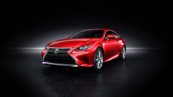 Red Lexus RC Coupe wallpapers and stock photos