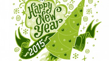 Green Happy New Year wallpapers and stock photos