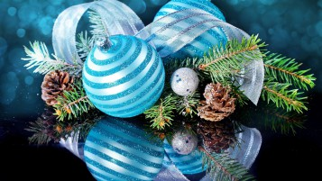 Blue Table Christmas Ornament wallpapers and stock photos