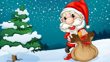 Happy Santa wallpapers and stock photos